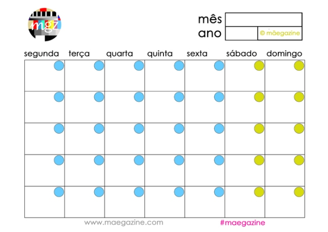calendario maegazine blogue