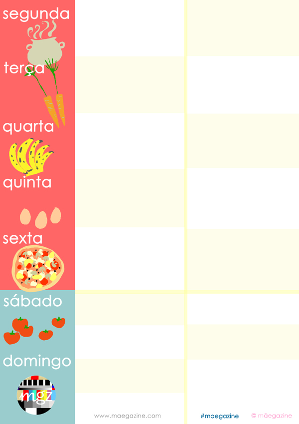 planeamento menu maegazine