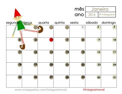 calendario maegazine janeiro 2106