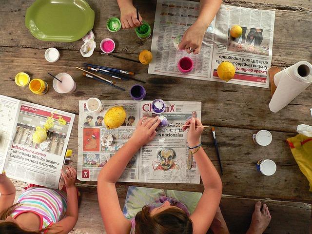 taquid férias de verão criar com tintas as cores dos frutos da época